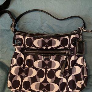 Rare Black and White Coach bag.